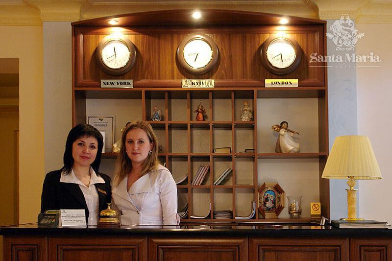 Отель Санта-Мария - рецепция